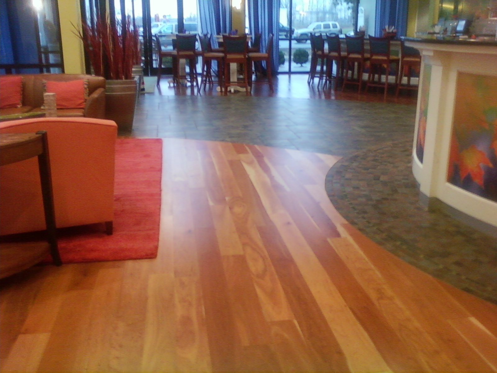 Linoleum flooring hardwood floor linoleum for Hardwood floor covering